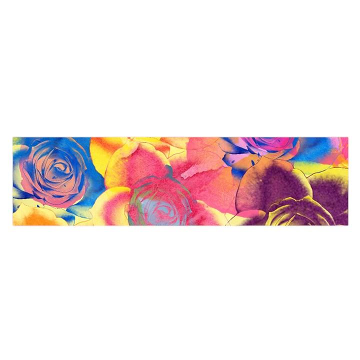 Pop Art Roses Satin Scarf (Oblong)