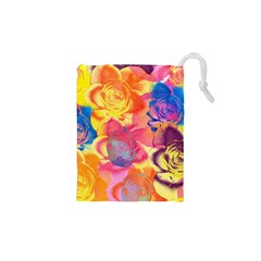 Pop Art Roses Drawstring Pouches (xs)  by DanaeStudio