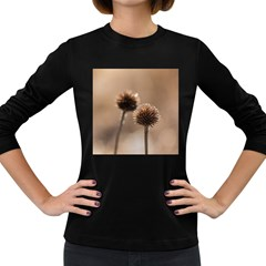 2  Verwelkte Kugeldistel Women s Long Sleeve Dark T Shirts