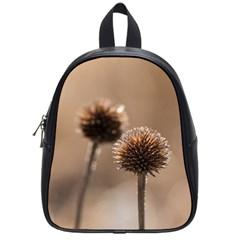 2  Verwelkte Kugeldistel School Bags (small)