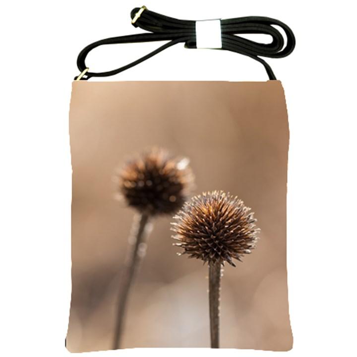 2  Verwelkte Kugeldistel Shoulder Sling Bags