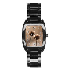 2  Verwelkte Kugeldistel Stainless Steel Barrel Watch