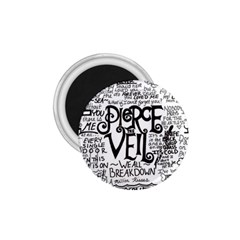 Pierce The Veil Music Band Group Fabric Art Cloth Poster 1 75  Magnets by Onesevenart