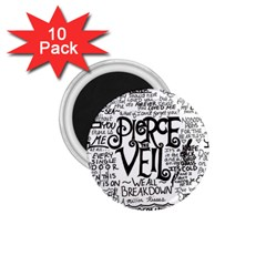 Pierce The Veil Music Band Group Fabric Art Cloth Poster 1 75  Magnets (10 Pack)  by Onesevenart