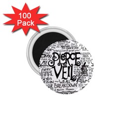 Pierce The Veil Music Band Group Fabric Art Cloth Poster 1 75  Magnets (100 Pack)  by Onesevenart