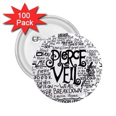Pierce The Veil Music Band Group Fabric Art Cloth Poster 2 25  Buttons (100 Pack)  by Onesevenart