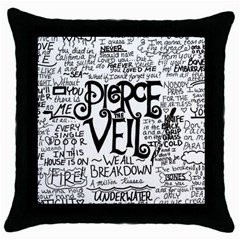 Pierce The Veil Music Band Group Fabric Art Cloth Poster Throw Pillow Case (black) by Onesevenart