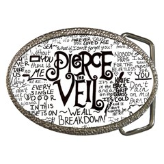 Pierce The Veil Music Band Group Fabric Art Cloth Poster Belt Buckles by Onesevenart