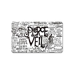 Pierce The Veil Music Band Group Fabric Art Cloth Poster Magnet (name Card) by Onesevenart