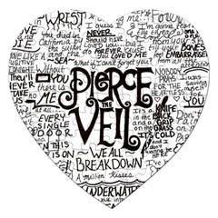 Pierce The Veil Music Band Group Fabric Art Cloth Poster Jigsaw Puzzle (heart) by Onesevenart