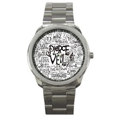 Pierce The Veil Music Band Group Fabric Art Cloth Poster Sport Metal Watch by Onesevenart