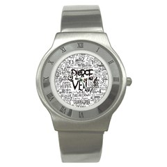 Pierce The Veil Music Band Group Fabric Art Cloth Poster Stainless Steel Watch by Onesevenart