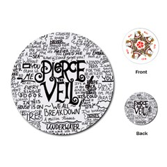 Pierce The Veil Music Band Group Fabric Art Cloth Poster Playing Cards (round)  by Onesevenart