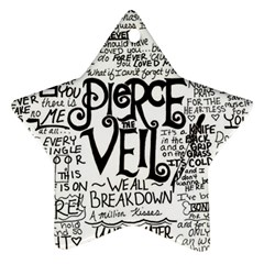 Pierce The Veil Music Band Group Fabric Art Cloth Poster Star Ornament (two Sides)  by Onesevenart