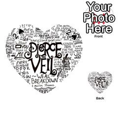 Pierce The Veil Music Band Group Fabric Art Cloth Poster Playing Cards 54 (heart)  by Onesevenart