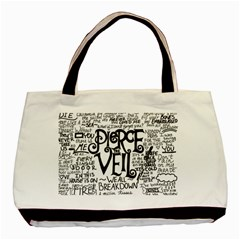 Pierce The Veil Music Band Group Fabric Art Cloth Poster Basic Tote Bag (two Sides) by Onesevenart