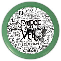 Pierce The Veil Music Band Group Fabric Art Cloth Poster Color Wall Clocks by Onesevenart