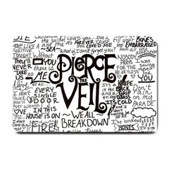 Pierce The Veil Music Band Group Fabric Art Cloth Poster Small Doormat  by Onesevenart