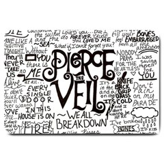 Pierce The Veil Music Band Group Fabric Art Cloth Poster Large Doormat  by Onesevenart