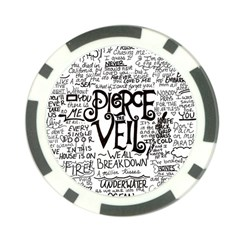 Pierce The Veil Music Band Group Fabric Art Cloth Poster Poker Chip Card Guards by Onesevenart
