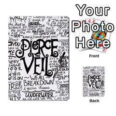Pierce The Veil Music Band Group Fabric Art Cloth Poster Multi Purpose Cards (rectangle)  by Onesevenart