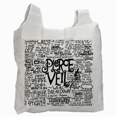 Pierce The Veil Music Band Group Fabric Art Cloth Poster Recycle Bag (two Side)  by Onesevenart
