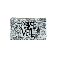 Pierce The Veil Music Band Group Fabric Art Cloth Poster Cosmetic Bag (small)  by Onesevenart