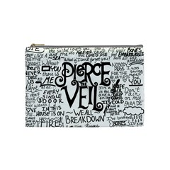 Pierce The Veil Music Band Group Fabric Art Cloth Poster Cosmetic Bag (medium)  by Onesevenart