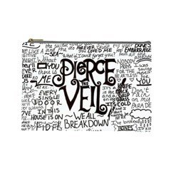Pierce The Veil Music Band Group Fabric Art Cloth Poster Cosmetic Bag (large)  by Onesevenart
