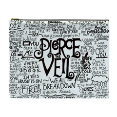 Pierce The Veil Music Band Group Fabric Art Cloth Poster Cosmetic Bag (xl) by Onesevenart