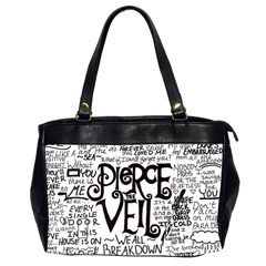 Pierce The Veil Music Band Group Fabric Art Cloth Poster Office Handbags (2 Sides)  by Onesevenart