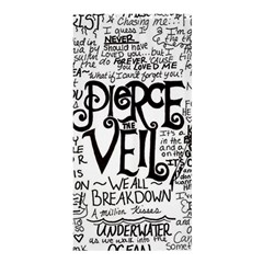 Pierce The Veil Music Band Group Fabric Art Cloth Poster Shower Curtain 36  X 72  (stall)  by Onesevenart
