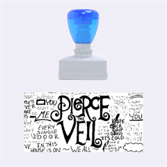 Pierce The Veil Music Band Group Fabric Art Cloth Poster Rubber Stamps (medium)  by Onesevenart