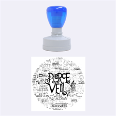 Pierce The Veil Music Band Group Fabric Art Cloth Poster Rubber Round Stamps (medium) by Onesevenart