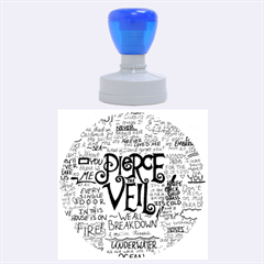 Pierce The Veil Music Band Group Fabric Art Cloth Poster Rubber Round Stamps (large) by Onesevenart