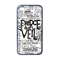 Pierce The Veil Music Band Group Fabric Art Cloth Poster Apple Iphone 4 Case (black) by Onesevenart