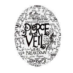 Pierce The Veil Music Band Group Fabric Art Cloth Poster Ornament (oval Filigree)  by Onesevenart