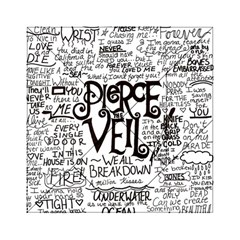 Pierce The Veil Music Band Group Fabric Art Cloth Poster Acrylic Tangram Puzzle (6  X 6 ) by Onesevenart