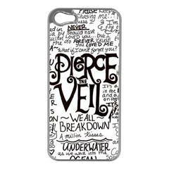 Pierce The Veil Music Band Group Fabric Art Cloth Poster Apple Iphone 5 Case (silver) by Onesevenart