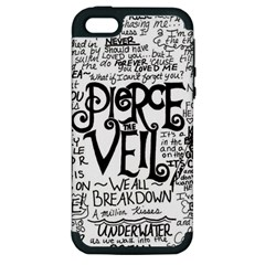Pierce The Veil Music Band Group Fabric Art Cloth Poster Apple Iphone 5 Hardshell Case (pc+silicone) by Onesevenart