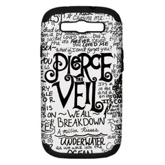 Pierce The Veil Music Band Group Fabric Art Cloth Poster Samsung Galaxy S Iii Hardshell Case (pc+silicone) by Onesevenart
