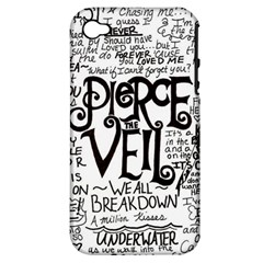 Pierce The Veil Music Band Group Fabric Art Cloth Poster Apple Iphone 4/4s Hardshell Case (pc+silicone) by Onesevenart
