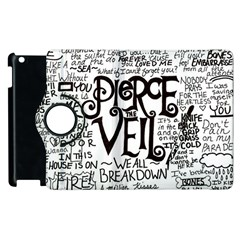 Pierce The Veil Music Band Group Fabric Art Cloth Poster Apple Ipad 2 Flip 360 Case by Onesevenart
