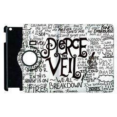 Pierce The Veil Music Band Group Fabric Art Cloth Poster Apple Ipad 3/4 Flip 360 Case by Onesevenart