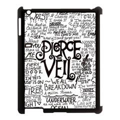 Pierce The Veil Music Band Group Fabric Art Cloth Poster Apple Ipad 3/4 Case (black) by Onesevenart
