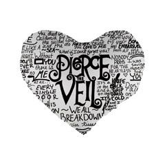 Pierce The Veil Music Band Group Fabric Art Cloth Poster Standard 16  Premium Heart Shape Cushions by Onesevenart