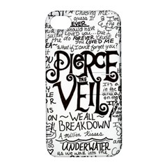 Pierce The Veil Music Band Group Fabric Art Cloth Poster Apple Iphone 4/4s Hardshell Case With Stand by Onesevenart