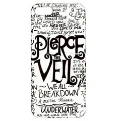 Pierce The Veil Music Band Group Fabric Art Cloth Poster Apple Iphone 5 Hardshell Case With Stand by Onesevenart