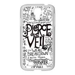 Pierce The Veil Music Band Group Fabric Art Cloth Poster Samsung Galaxy S4 I9500/ I9505 Case (white) by Onesevenart