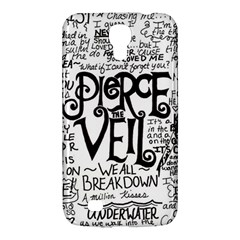 Pierce The Veil Music Band Group Fabric Art Cloth Poster Samsung Galaxy Mega 6 3  I9200 Hardshell Case by Onesevenart